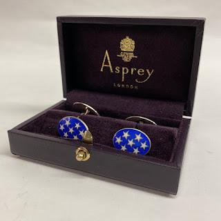 Asprey of London Sterling Cuff Links