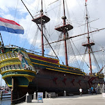 the Amsterdam! replica VOC ship from the 17th century in Amsterdam, Noord Holland, Netherlands