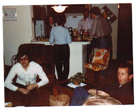 Photo: 1983 - a welcoming party for Alan Ballard at the Bodwin apartment on Plymouth Road in Ann Arbor, (l to r) Alan Ballard, Julie Humphrey, Genie Wolfson, Jim Bodwin, Jon Sell, Bruce Baker.