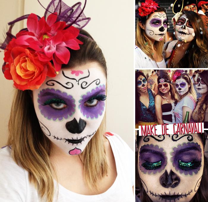 Make De Carnaval O Passo A Passo Da Minha Caveira Mexicana Lu