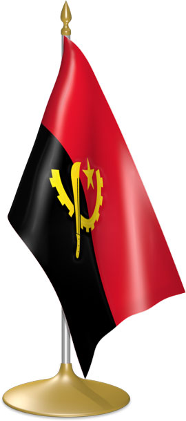 Angolan table flags - desk flags