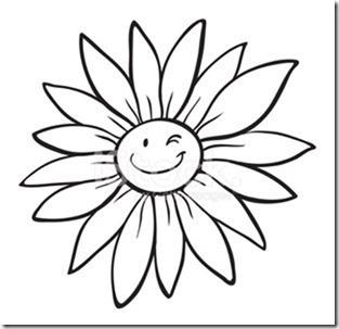 flore sencillas para colorear  (4)