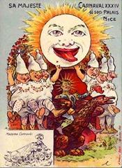 Carnaval de Nice affiche 1916
