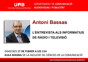 Antoni Bassas a la facultat