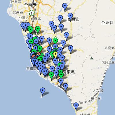 中油直營站地圖(高屏)