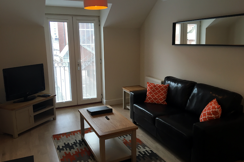 Living area at Stanshawe Court