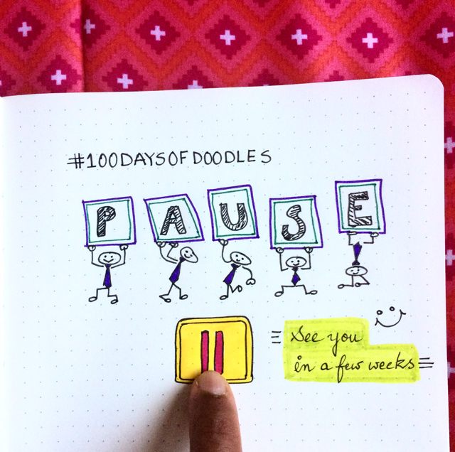 #100DaysOfDoodles | Day 39 | Pause..  | The 100 Day Project 2017