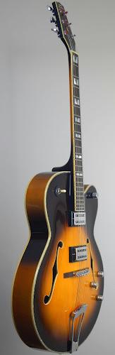 chinese sunbust hollowbody guitar at Ukulele Corner