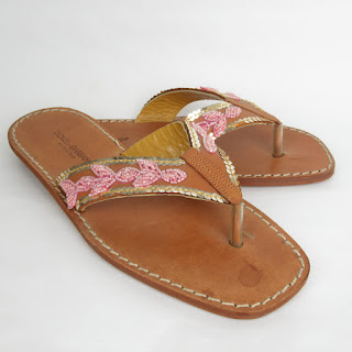 Dolce & Gabbana Beaded Flip Flops