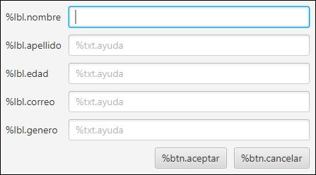 FXML con soporte para distintos idiomas