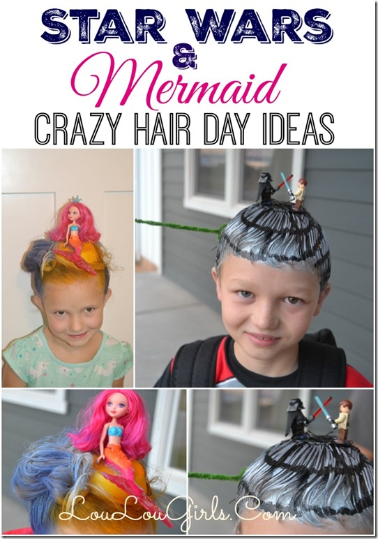 Star Wars And Mermaid Crazy Hair Day Ideas Lou Lou Girls