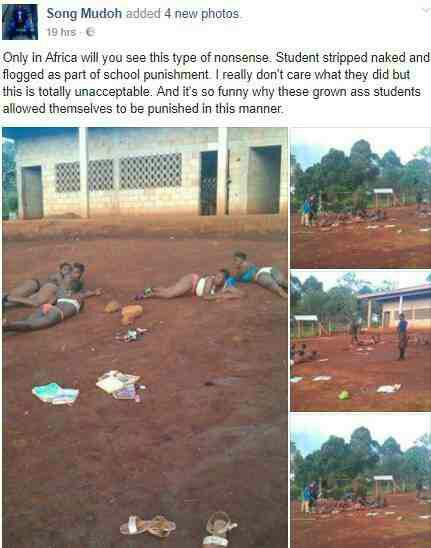 PHOTOS: Teachers Strip Male & Female Students Unclad For Lateness