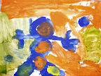 Painting of a Blue Guy by Ben - 5yrs