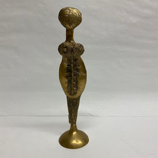 Ange & Dam Signed Brass Figurine