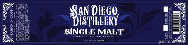 San Diego Distillery - Single Malt American Whiskey