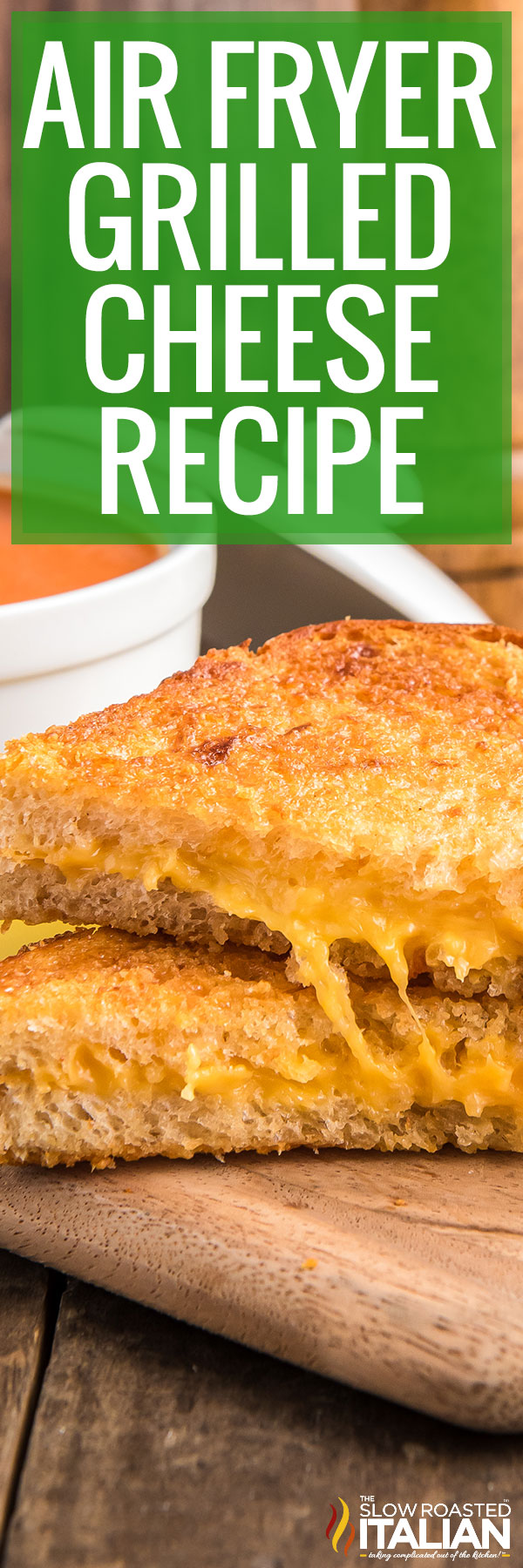 air fryer grilled cheese closeup