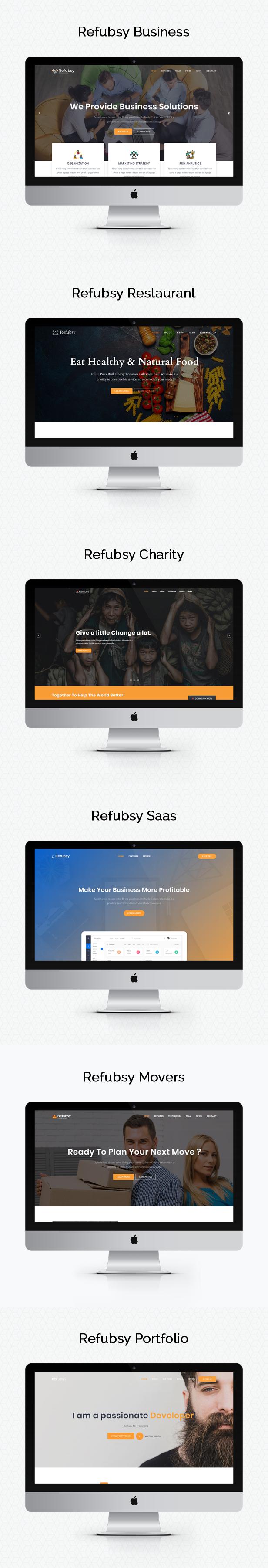 Refubsy - A Responsive Multipurpose Template - 2