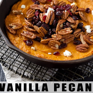Super Easy Vanilla Pecan Sweet Potato Casserole