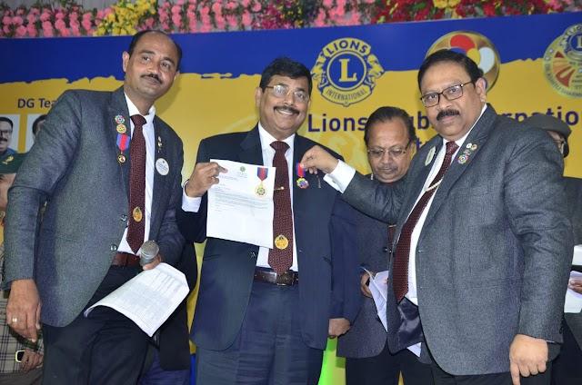 राकेश को मिला मंडल में सर्वश्रेष्ठ लायन का पुरस्कार