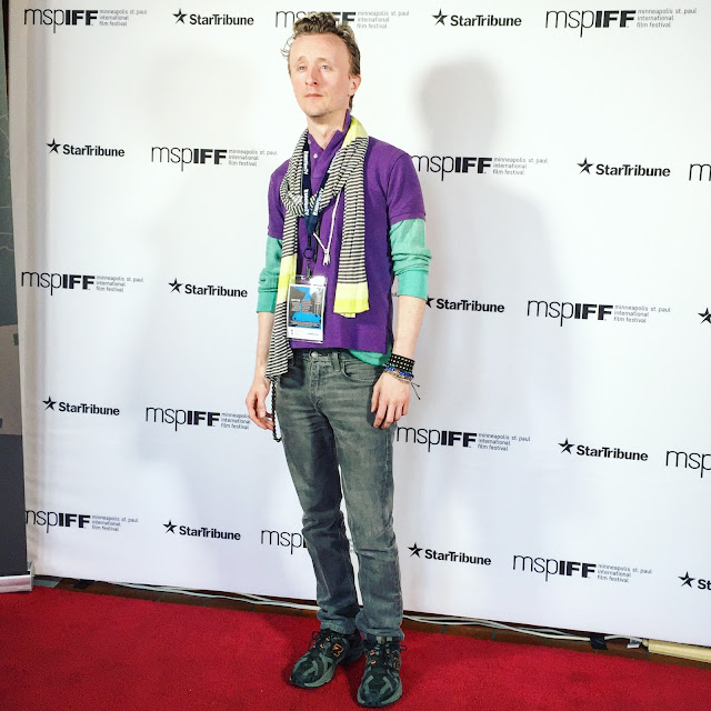 Actor Paul Cram on the Red Carpet at the MSPIFF Festival