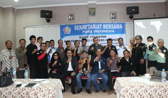 JELANG MUBES, SEKBER PERS INDONESIA GELAR RAPAT DI SERANG