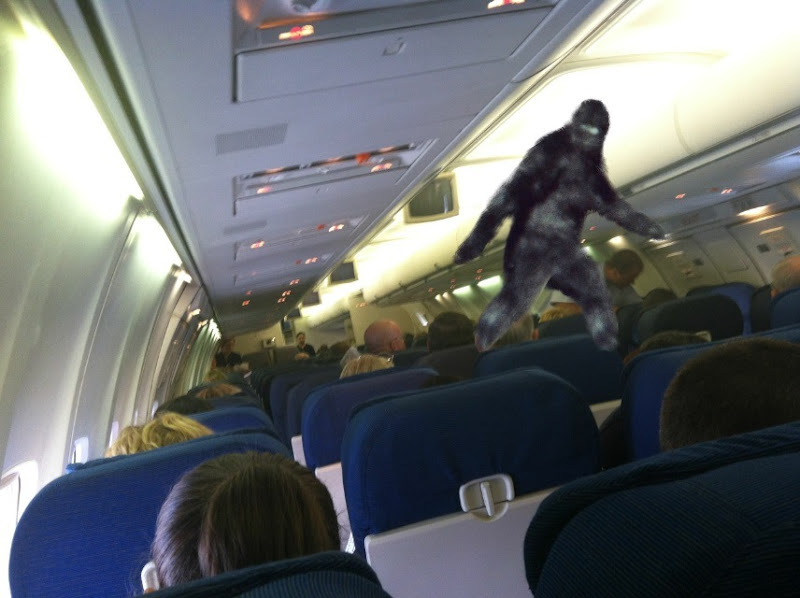 Bigfoot on a plane