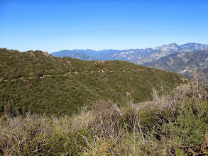 Photo: View west toward the road I was just on and the ridge I will descend