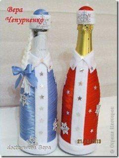 decorar botellas navidad todonavidad info (26)