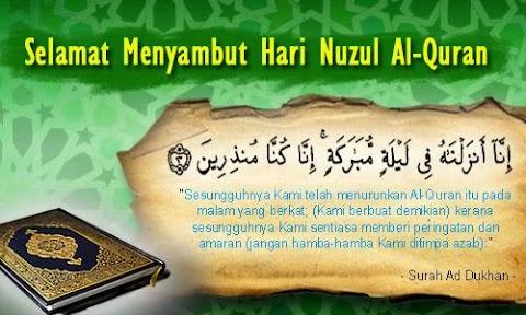 Selamat Menyambut Hari Nuzul Al Quran