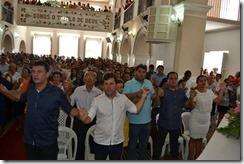 Deputado Dison Lisboa participa de missa ao lado do Prefeito de Goianinha Júnior Rocha, do Vice-prefeito Berg Lisboa e demais lideranças