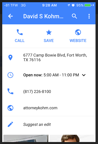 CALL on in Google Maps App map results list goes to ... Click To Call Google Maps on google maps maps, google maps android, google map us rivers, google maps app,