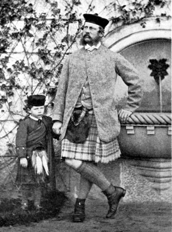 The Crown Prince of Prussia and Prince Wilhelm II. - Balmoral Castle. - Oct. 1863