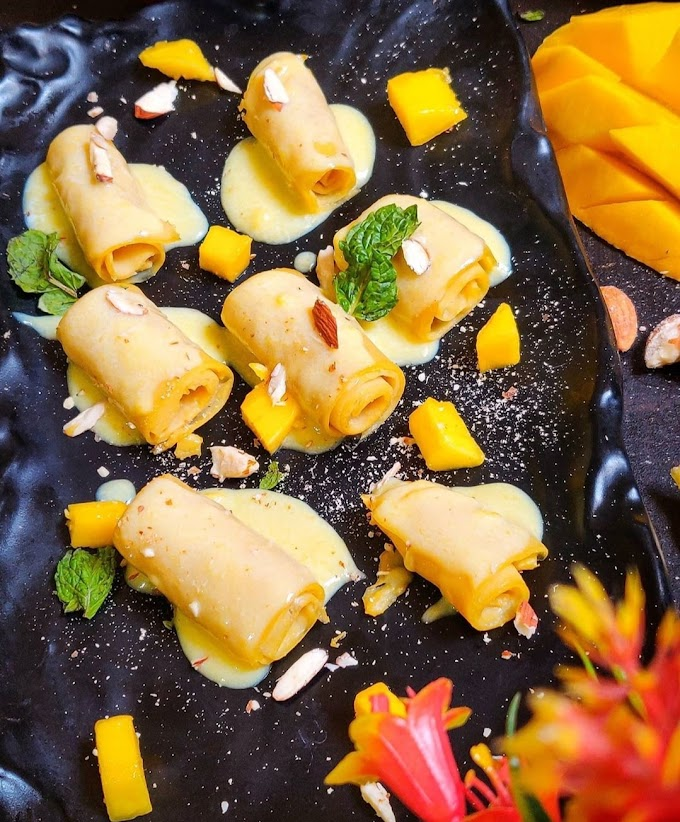 Malai Mango Khandvi Recipe | Breakfast Care