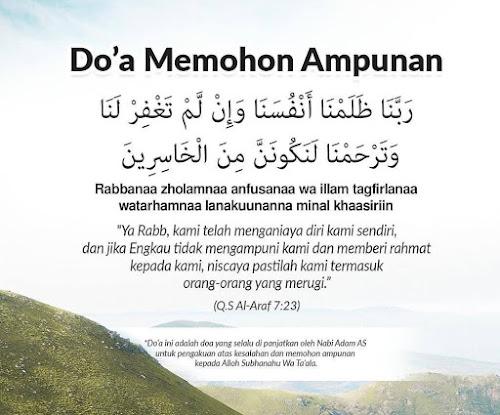 doa memohon ampunan