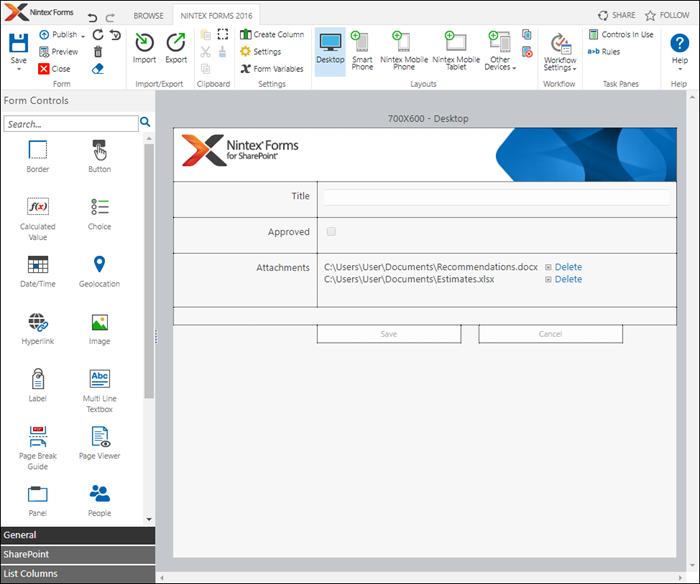 Nintex-Forms-Editor