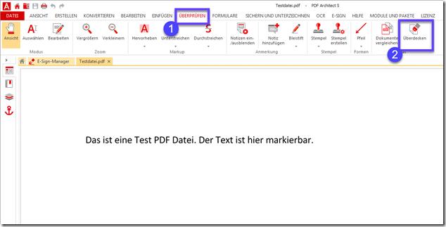 PDF Text löschen