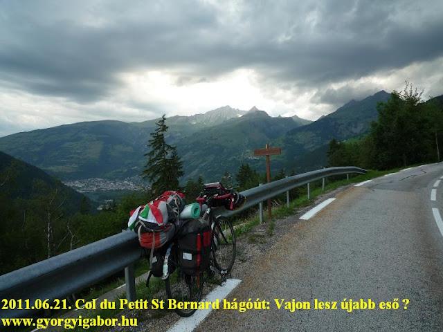 Györgyi Gábor : Col du Petit St Barnard / Kis Szent Bernát hágó útja