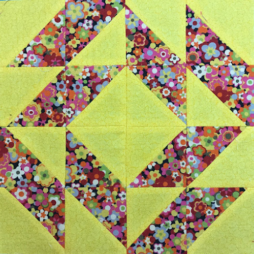 Block 15: 16 HST quilt sampler tutorial