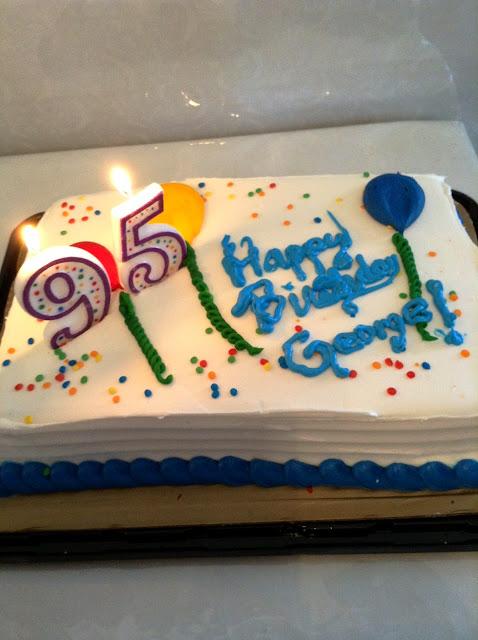 George's 95th Birthday cake!