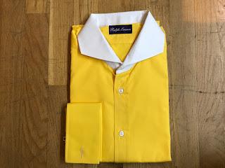 Ralph Lauren Purple Label Solid Yellow Shirt