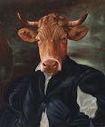 La-vache - Franck Le Gall - Portraits animaliers anthropomorphiques, le p'tit baron local
