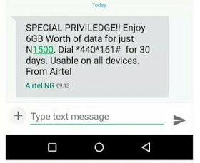 GET 6GB FOR JUST #1500 ON YOUR AIRTEL SIM NOW