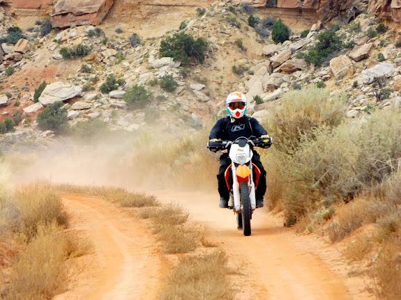 Paul riding at Waterhole Flat