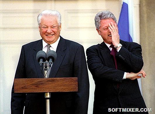 США. Президент США Билл Клинтон и Президент РФ Борис Ельцин во время пресс-конференции. Фото ИТАР-ТАСС