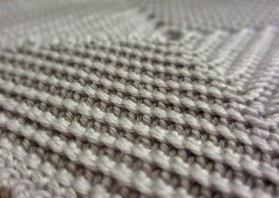 Salonkien salat -patalapun kolmiulotteista pintaa