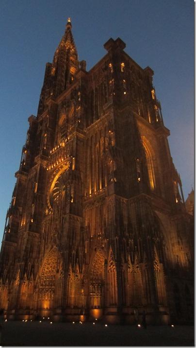 Cathédrale Notre Dame de Strasbourg by Night (1)