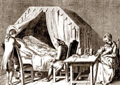 Ziekenbed 18e eeuw