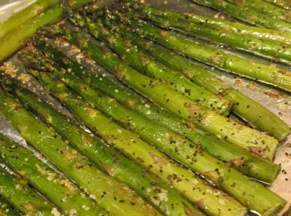 Black Truffle Oil Roasted Asparagus