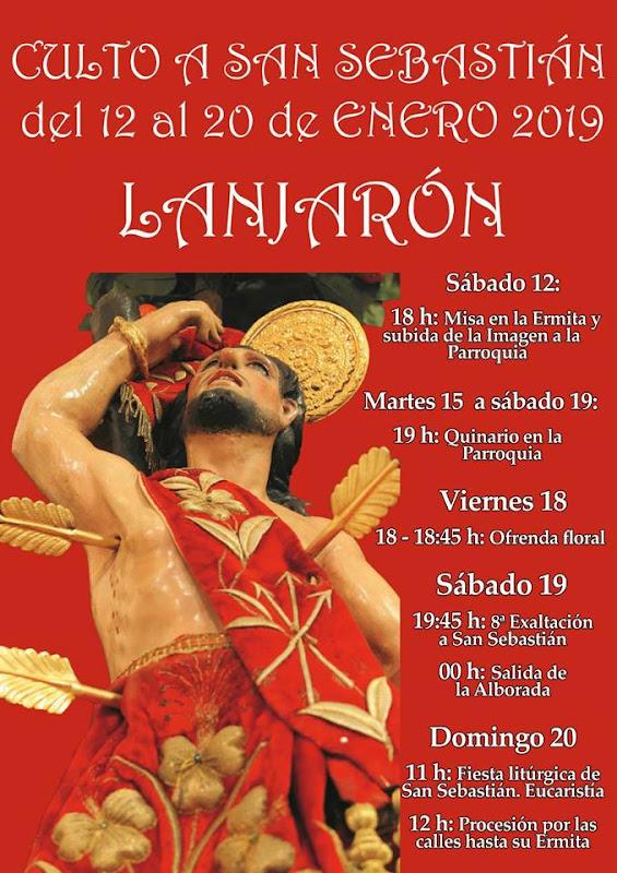 Culto a San Sebastián de 12 al 20 de enero 2019