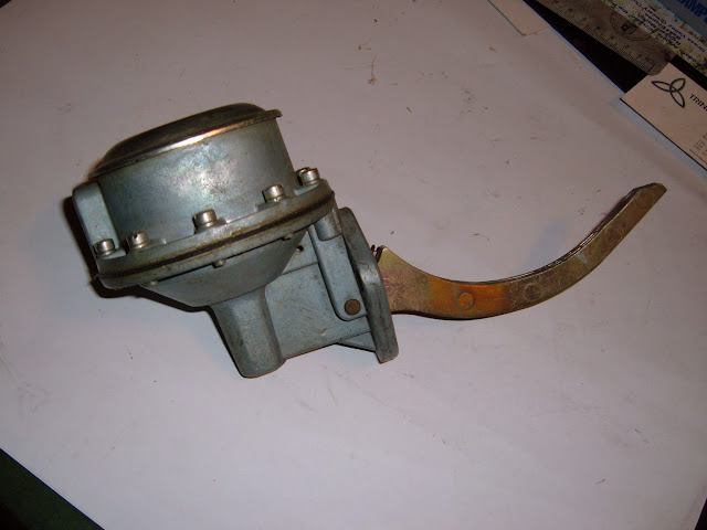 1956-59 Chevy 322 truck fuel pump, works in all 264-322 Buicks, rebuilt 110.00 exchange with any 264-322 pump.